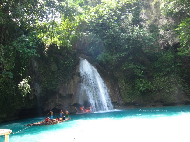 Makatang Lakwatsera @ Kawasan Falls, Badian In here you can see the first waterfalls that drops from a height of 40 meters.